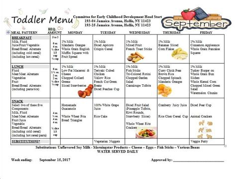 toddler menu for the week of september committee for 938 | ?media id=1466757316752454