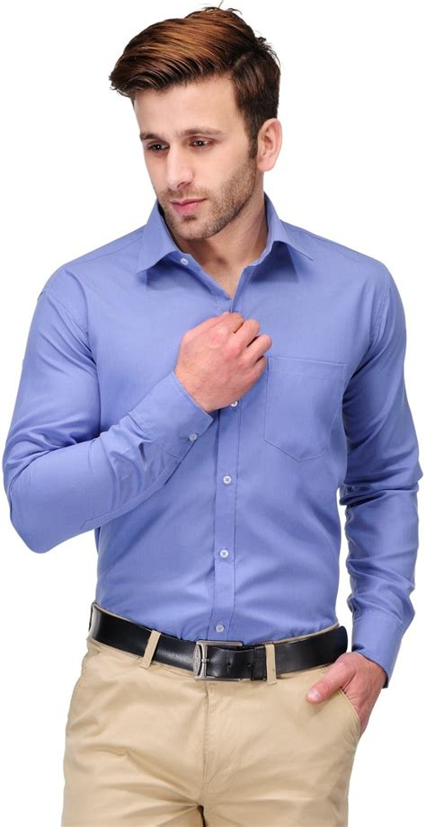 Koolpals Men Solid Formal Blue Shirt - Buy Office Blue Koolpals Men Solid Formal Blue Shirt ...