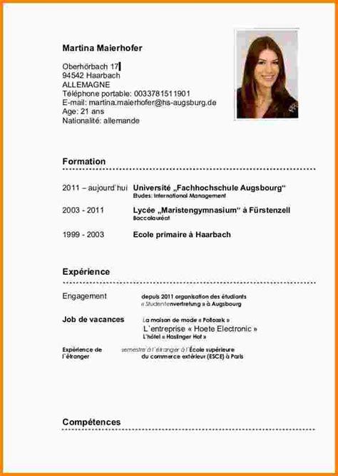 Faire Un Cv Exemple by Cv Espagnol Mod 232 Le Ataboxe