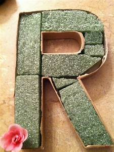 flower filled 3 d letters and an invitation to get buff With foam letters for flowers