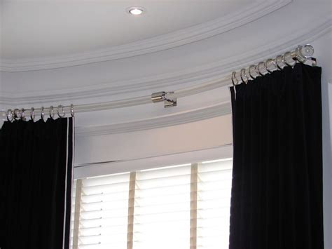 curved curtain rod for bow window brackets for curtain