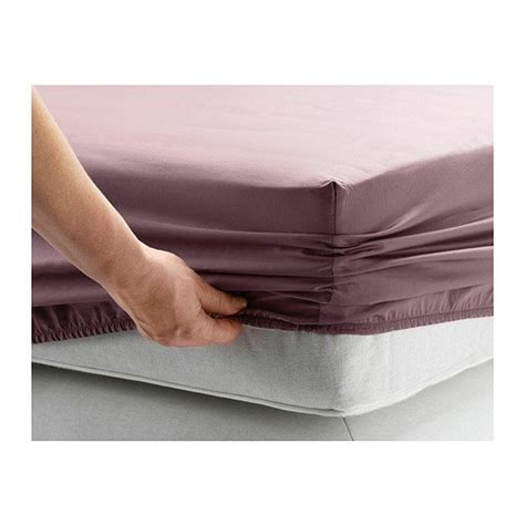 ikea gaspa fitted sheet lilac 100 cotton