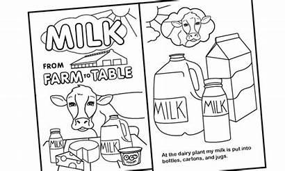Coloring Farm Milk Table Dairy Michigan Nutrition