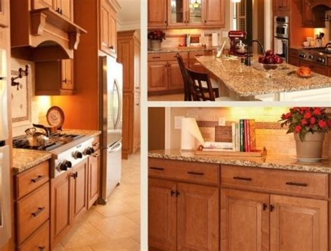 a warm traditional kitchen featuring carlton maple kitchen cabinets from cliqstudios maple