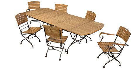 table de salon de jardin en fer forge salon de jardin en teck et fer forg 233 avec table rectangulaire 4 chaises et 2 fauteuils