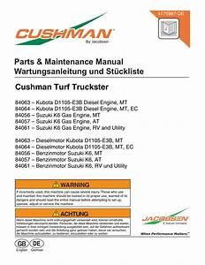 Cushman Suzuki 660 K6a Service Manual