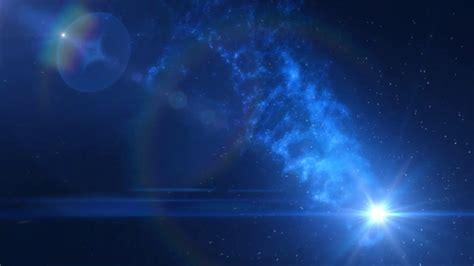 blue space nebula dust stars motion background aavfx