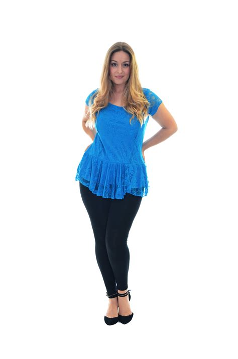 New Womens Lace Top Plus Size Ladies Lined Peplum Style ...