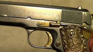 Colt Light Weight Commander In Nickel  U0026 Gold 38 Super