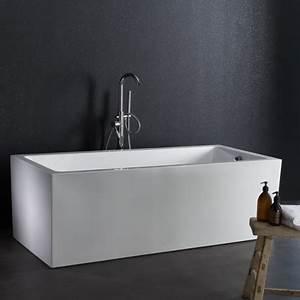 Baignoire Ilot Pas Cher : baignoire ilot rectangulaire sur pied sabot pas cher ~ Premium-room.com Idées de Décoration