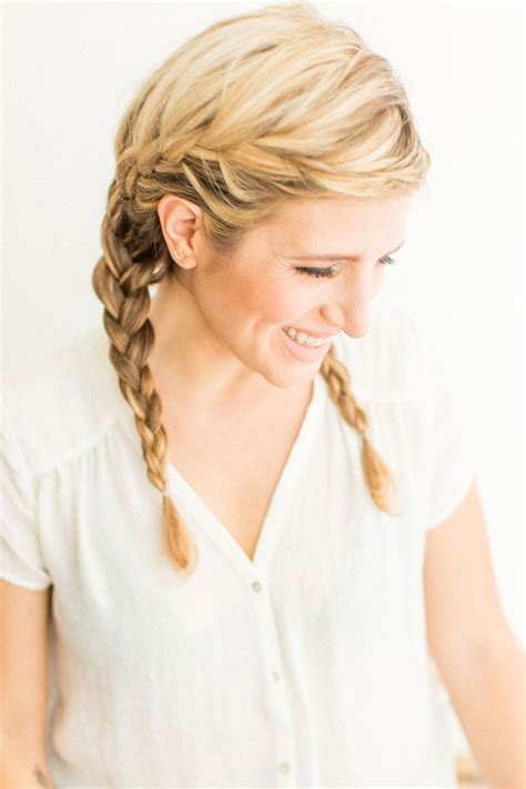 kate diy beauty french braid pigtails