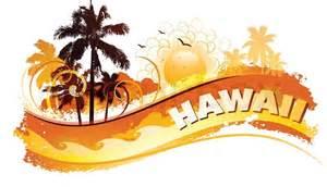Hawaiian Tropical Cartoon Backgrounds