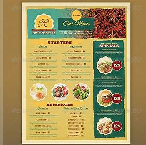 17 useful vintage restaurant menu templates psd With templates for restaurant menus