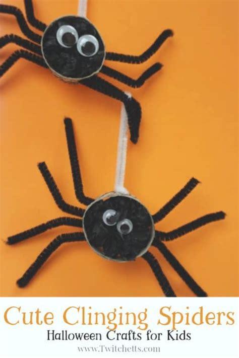 fun crepe paper spiders twitchetts