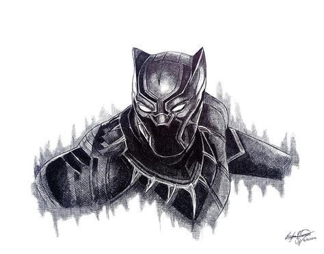 Marvel Civil War Wallpaper Black Panther Drawing By Serafin Ureno
