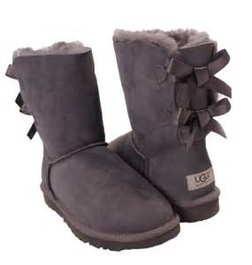 ugg bailey bow grau sale gray ugg boots with bows