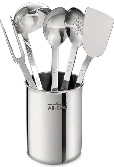 kitchen steel clad stainless tool utensil tools cooking silver piece caddy utensils professional included cookware amazon spoon cleaner ounce polish