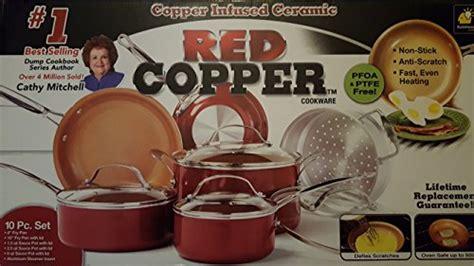 red copper ceramic  stick  cookware pan tookcook
