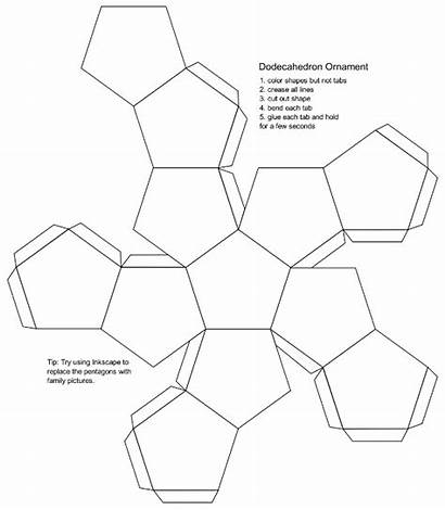Printable Dodecahedron Paper Template Blank Templates Craft