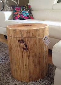 wood stump table Wood Stump Side Tables End Tables Coffee Tables. Wood