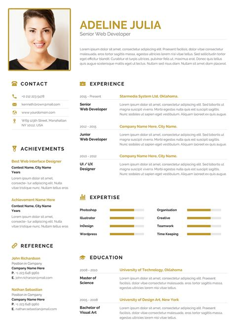 An excellent example of a resume. Modern Commercial CV Word example to download | Commercial Resume