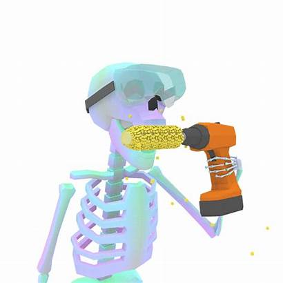 Skeleton Corn Safety Cartoon Drill Giphy Gifs