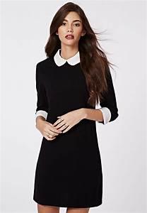 1000 idees sur le theme robe col claudine sur pinterest With robe noire col claudine blanc