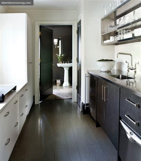 black galley kitchen galley kitchen contemporary kitchen atlanta homes 1681