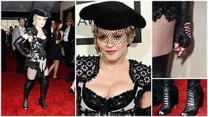 Grammys 2015: Madonna bares a lot in burlesque matador ...