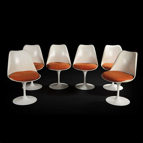 chaise saarinen eero saarinen 1910 1961 set of six swivel chairs