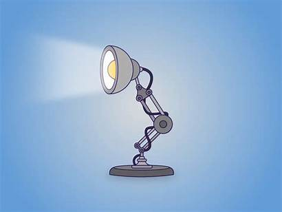 Pixar Lamp Dribbble Animation Effects 2d