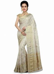 Dhoti Saree Design Buy Off White Pure Silk Saree Zari Sari Online Shopping