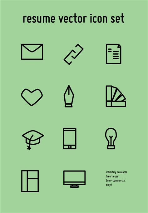 Free Resume Icons Vector by Resume Vector Icon Set Free On Behance