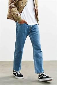 Lyst - Urban Outfitters Cutoff Hem Leviu0026#39;s Light Stonewash 505 Slim Jean in Blue for Men