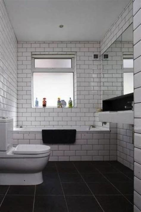 image result  bathroom white subway tile grey grout