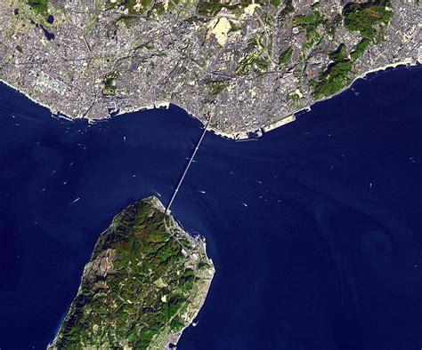 Space Images Akashi Kaikyo Bridge Japan