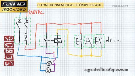 seb schema electrique principe de cablage du telerupteur