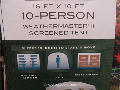 coleman weathermaster ii  person screened tent