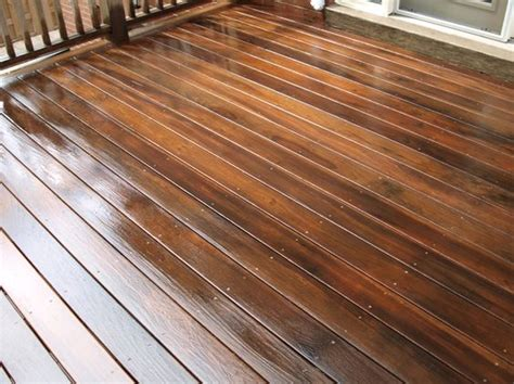 Restaining Deck With Solid Stain by In The Process Of Staining A Deck With Benjamin Moores