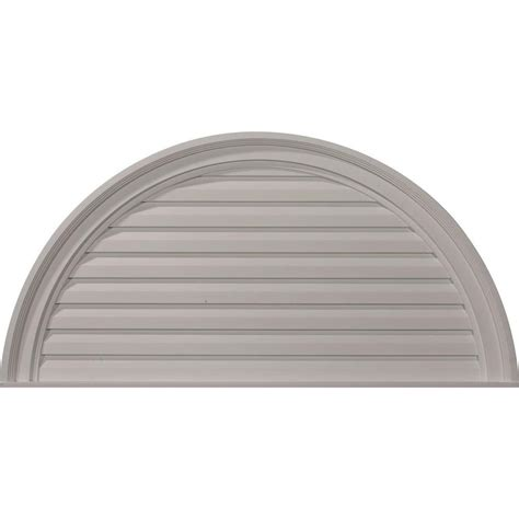 decorative gable vents products ekena millwork 2 in x 36 in x 18 in decorative half