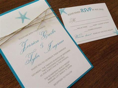beach wedding invitation sets diy wedding invitation
