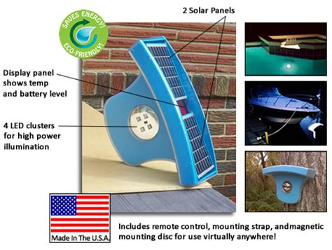 solar powered led swimming pool light