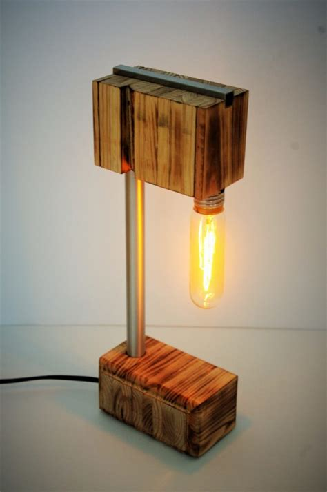 recycled wooden desk lamp id lights
