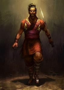 Warrior, Sun, Tzu, Looking, At, Viewer, Long, Hair, Ancient