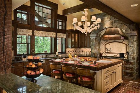 country kitchen wy granite ridge timber frame jackson teton heritage 6141
