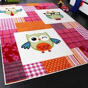Teppichboden Für Kinderzimmer : teppich kinderzimmer trendige eulen kinderteppich eule mehrfarbig pink creme kinderteppiche ~ Orissabook.com Haus und Dekorationen