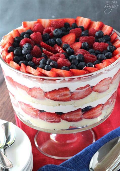 triple berry trifle recipe yummy dessert recipes