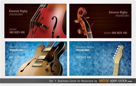 musicians business cards designs   vector
