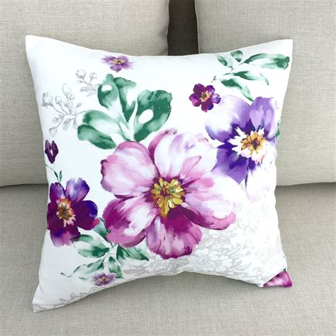 decorative throw pillow covers decorative throw pillows pillow covers floral by homedecoryi