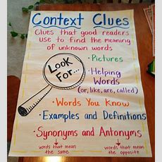 Nc Teacher Stuff Anchor Charts For Context Clues And A Freebie